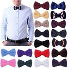 Men Bowknot Knit Adjustable Bow Tie Wedding Tuxedo Necktie Bowtie Party Neckwear