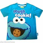 Boys Short Sleeved T Shirt Cookie Monster Muppets Sesame Street  2 3 4 5 6 Years