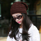 New Fashion Lady Argyle Style Knit Baggy Beanie Winter Hat Ski Crochet Baggy Cap
