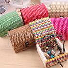 Mini Travel Office Bamboo Earrings Ring Jewelry Cosmetic Makeup Storage Box Case