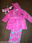 New Primark baby girls dressing gown bath robe and floral pyjamas and toy 6-12 m