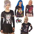 LONG SLEEVE GOTH T SHIRT GOTHIC EMO