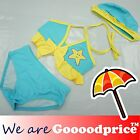 Baby Child Bathing Swimwear 3 Pieces Suit Girl's bikini Custom Yellow Star Style