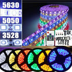 3528 5050 5630SMD waterproof 300LED Strip Light Flexible Warm/Cool/RGB + Adapter