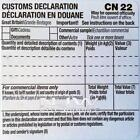 SELF ADHESIVE CUSTOMS DECLARATION LABEL FORMS CN22 CUSTOM LABELS choose quantity