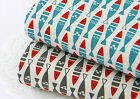 Fish 100% Cotton Fabric Nautical Scandinavian sealife Quilting(fft168)=