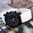 6 Colors Cool Unisex Luxury Black Dial Sports Watch Rubber Strap Wristwatch New