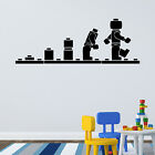 LEGO MAN EVOLUTION WALL STICKER BOYS BEDROOM TRANSFER DECAL