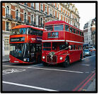 LONDON BUS (OLD & NEW) - SET OF NOVELTY FUN COASTERS - SETS OF 4, 6 OR 8 - GIFT