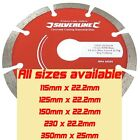 CONCRETE & STONE MASONRY DIAMOND CUTTING BLADE DISC CUTTER DISK 115 - 350mm