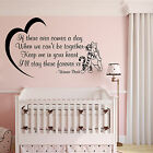 WINNIE THE POOH STICKER NURSERY BEDROOM WALL ART QUOTE BABY GIRL BOY GIFT DECAL