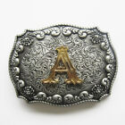 Initial Letter A to Z Western Cowboy Rodeo Belt Buckle USA Seller Free Shipping