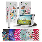 360° Rotating PU Leather Stand Case Cover & Screen Protector for Tesco Hudl 2