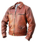 Mens NEW FLYING JACKET genuine leather Pilots Flight Coat s m l xl WWll brown