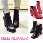 Girls Fashion Round Toe Dressy Chelsea Ankle High Heel Boots