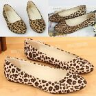 WWF Womens Fashion Vintage Leopard Pointed Toe Flat Shoes Casual A2042
