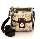 Fashion Snakeskin Cross-body Everyday Bag - Lime/Brown