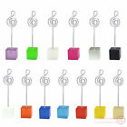 lot 50pcs cube music notation wire stand memo photo clip holder,table place card