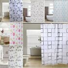 Extra Large Modern Bathroom Curtain Shower 180 X 200cm Long With Hooks Ring