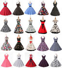 fast Women Vtg 50s Retro Pinup Rockabilly Party Prom Swing Dancing Evening Dress