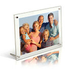7x5 Modern Clear Acrylic Photo Frames, Desktop, Free Standing, British Made