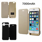 7000mAh for iPhone 6 4.7 inches External Battery Backup Power Charger Flip Case