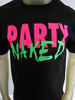 NEW Party Naked Neon beer funny tee shirt men's black choose your size