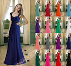 New Chiffon Bridesmaids Dresses Long Evening Prom Formal A-line Gowns size 6-26