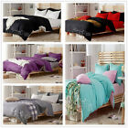 Solid King/Queen/Double Bed Linen Doona/Quilt/Duvet Cover Set New 100% Cotton 4P