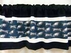 "Philadelphia Eagles NFL Football Black Valance Curtain Choose: 40"",52"",80"" x 13"" on eBay"