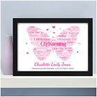 PERSONALISED CHRISTENING Girls Butterfly Gift Present for Goddaughter Girl Her