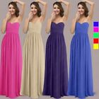 Strapless Bridesmaid Dress Long Wedding Gowns Prom Party Evening Formal Sz 6-26