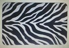"""ZEBRA PRINT PLACE MATS Black White Table  Protector  set OF 4 OR  6 17X11""""in"""