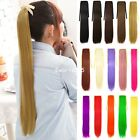 Women Long Synthetic Straight Ponytail Clip Hair Extension Piece Hairpiece Hot