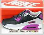 Nike Air Max 90 LTR Leather Anthracite Purple Black 652980-005 US 9~11 Casual