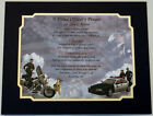 POLICE OFFICER'S Prayer/Poem with DUAL MAT Personalized 2 TO CHOOSE FROM L K