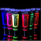 UV Glow Neon Hair Gel 10ml Tube - Wash out colour   UV Reactive   Rave   Goth