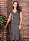 Stop Staring! Sexy Florence dress in Black with Grey Dots