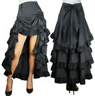 Three Tiered Ruffled Bustle Skirt With Ties Gothic Victorian Burlesque