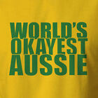 Funny Australian T-shirt Worlds Okayest Aussie pride flag ned kelly southern