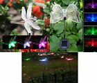 Set of 2 Solar Powered LED Colour Changing Garden Novelty Stake Lights