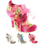 Womens Irregular Choice Abigails Third Party Lace Shoe Boots High Heels US 5.511