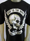 Bad to the Bones Skulls Biker cut party tee shirt men's black choose A size
