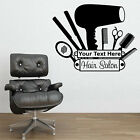 HAIR & BEAUTY SALON - Wall Art Sticker Personalised with your text HAIRDRESSER