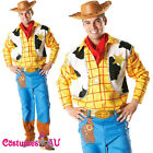 Mens Toy Story Woody Costume Adults Disney Fancy Dress Wild Western Cowboy + Hat