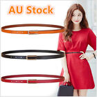 Ladies Slim Fashion Waist Belt Dress Access Thin Skinny PU Leather Belt Women 01