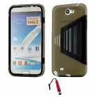 For Samsung Galaxy Note II 2 TPU Wrap Up Case W/ Screen Protector + Stylus R
