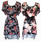 SIMPLY BE BLACK/RED & BLACK/PINK/GREY FLORAL TUNIC/DRESSES-PLUS SIZES 16-26/28