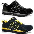 MENS SAFETY SHOES LEATHER STEEL TOE CAPS TRAINERS HIKING WORK BOOTS SHOES SIZE