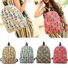 Owl Fox Backpack Canvas Animal Women Girl Satchel Shoulder School Bag Rucksack